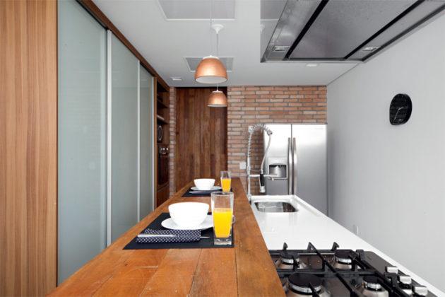 cozinha planejada com bancada