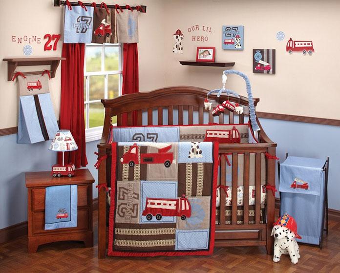 quarto de bebê decorado tema bombeiros