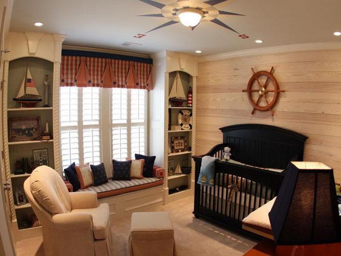 quarto de bebê decorado tema marinheiro