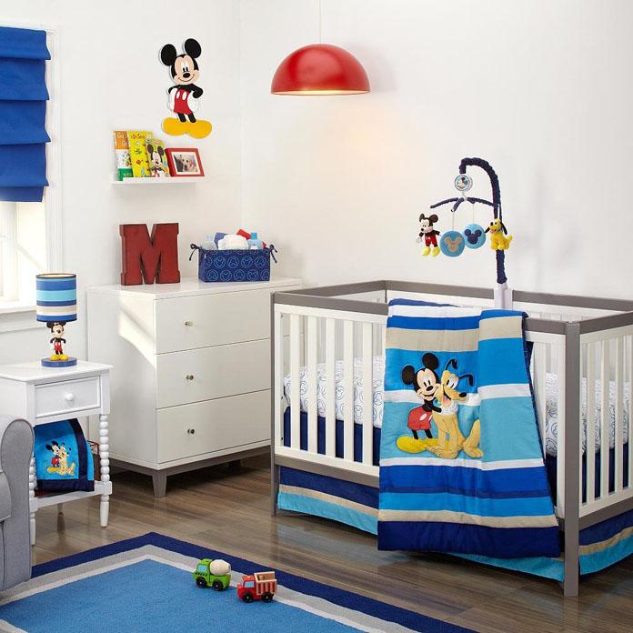 quarto de bebê decorado tema mickey