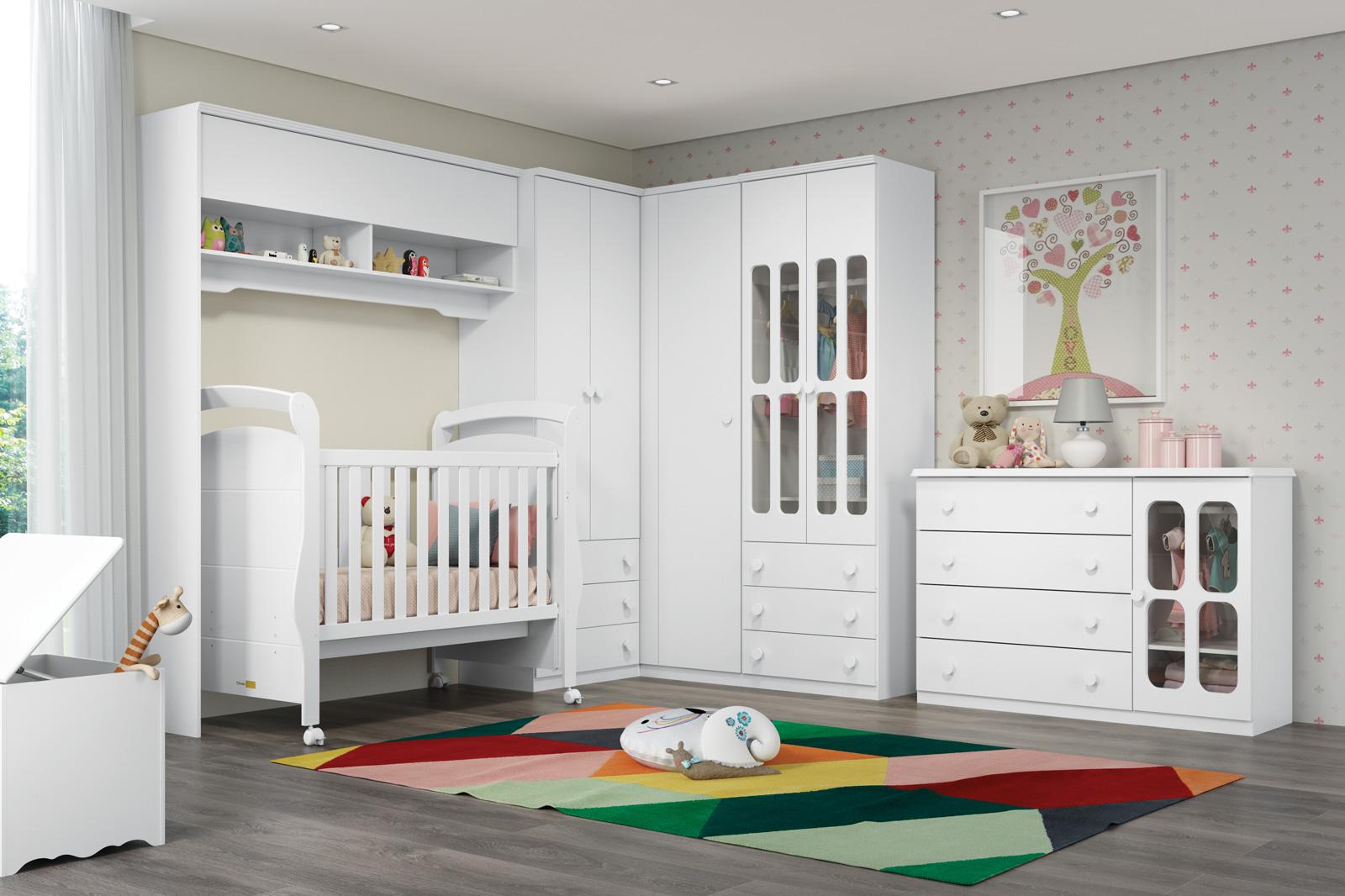 Quarto De Beb Planejado Como Planejar 100 Fotos E Dicas  ~ Decoração De Quarto De Bebe Pequeno