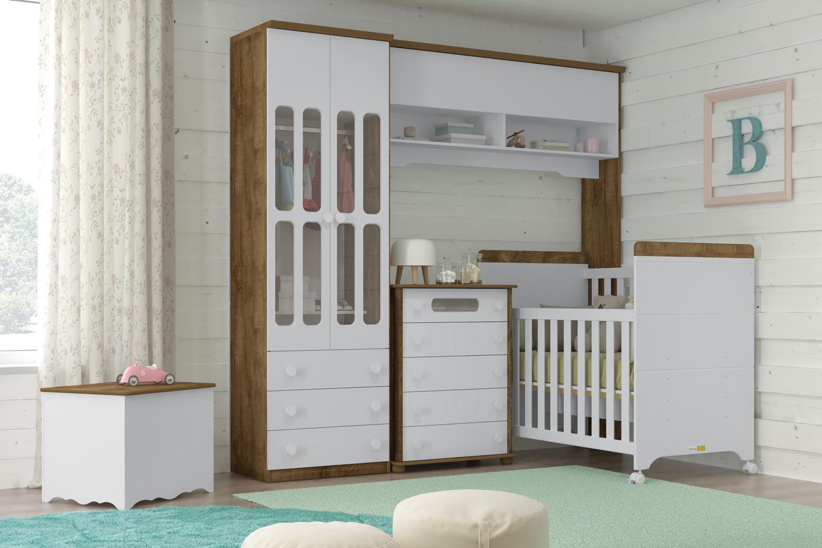 Quarto De Beb Planejado Como Planejar 100 Fotos E Dicas  ~ Quarto De Casal Planejado De Apartamento Pequeno