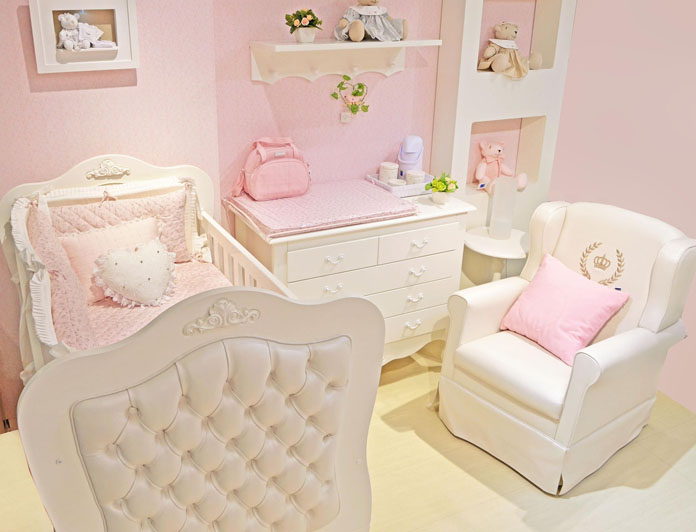 quarto de bebê decorado tema monocromatico