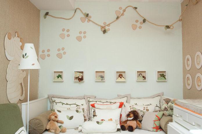 quarto de bebê decorado tema safari