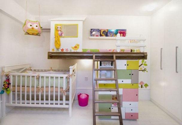quarto neutro para duas crianças
