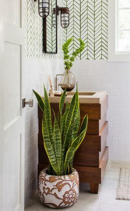 banheiros decorados com plantas