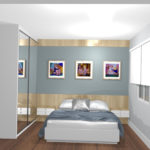 Guarda-roupa planejado para quarto pequeno de casal