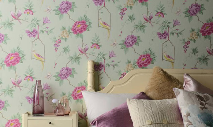 Papel de parede para quarto feminino