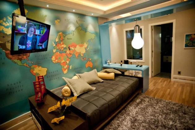 Papel de parede para quarto masculino