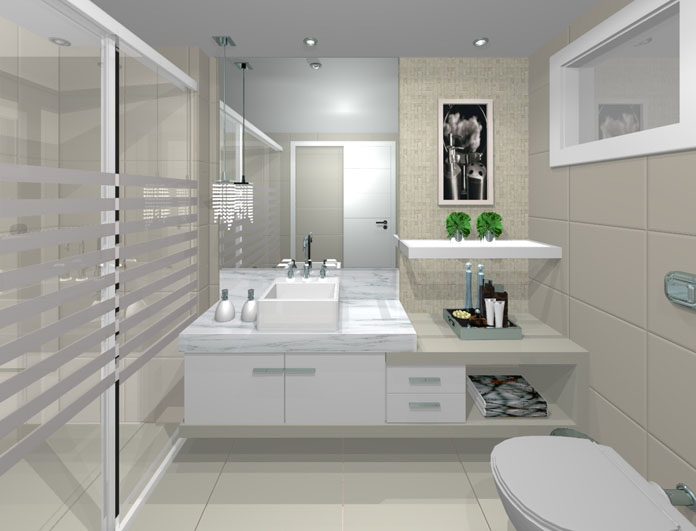 Banheiros decorados veja 100 fotos e dicas de decora o de banheiro - Fotos de lofts decorados ...