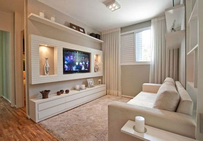 Decoracao sala pequena 08 for Salas minimalistas para casas pequenas