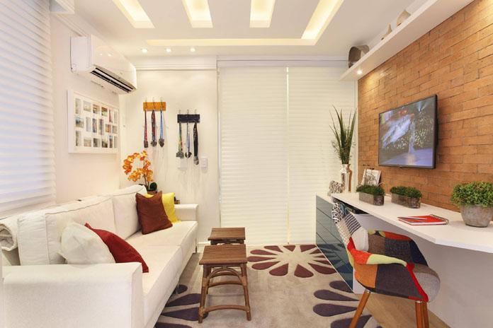Decoracao sala pequena 14 for Modelos de salas de bano pequenas