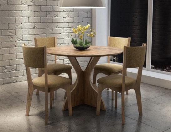 mesa de jantar 4 lugares redonda