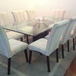 mesa de jantar 8 lugares de vidro retangular