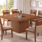 mesa de jantar 8 lugares de madeira quadrada