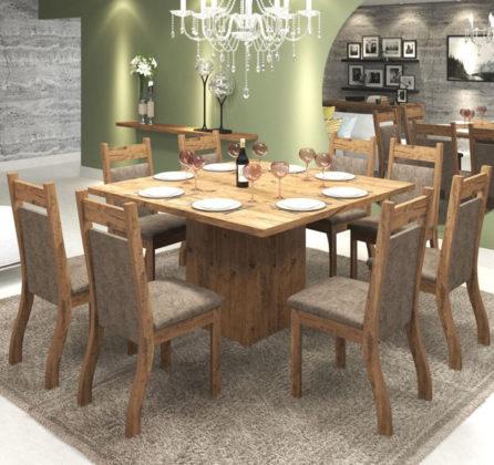 mesa de jantar 8 lugares quadrada