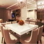 mesa de jantar 8 lugares quadrado