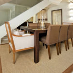 mesa de jantar 8 lugares de madeira
