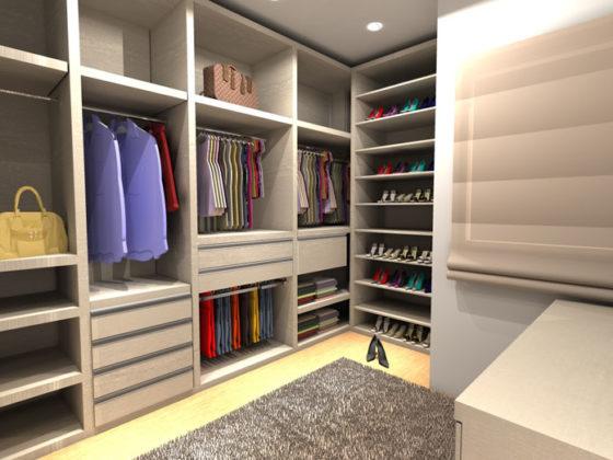 Closet planejado para quarto de casal