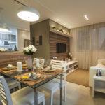 Cozinha americana com sala de jantar