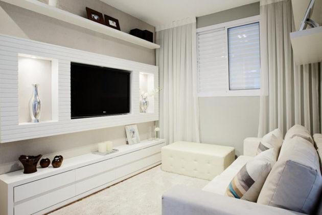Decoração minimalista para sala