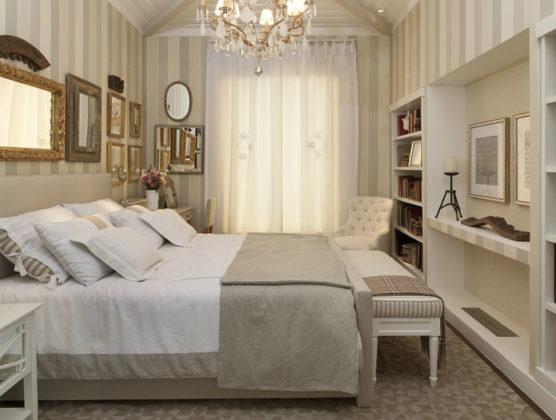 Decoração romântica de quarto de casal