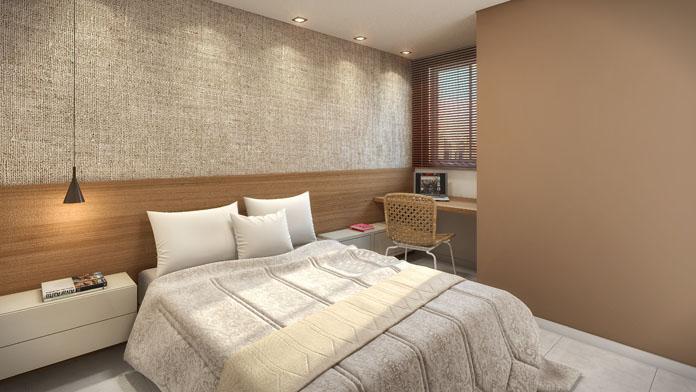 Decoração simples de quarto de casal