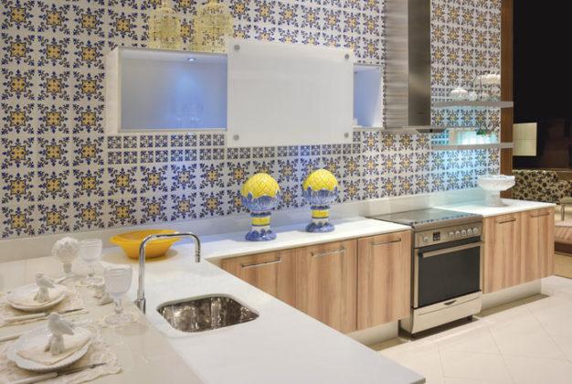 Papel de parede para cozinha criativo