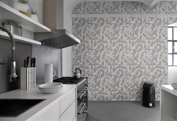 Papel de parede texturizado ou com relevo