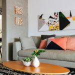 decoracao com Almofadas geométricas