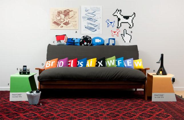 decoracao com Almofadas nerds