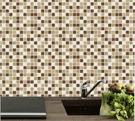 papel de parede para cozinha imitando azulejo
