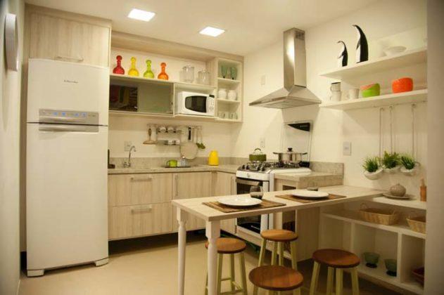 Cozinha de apartamento pequeno
