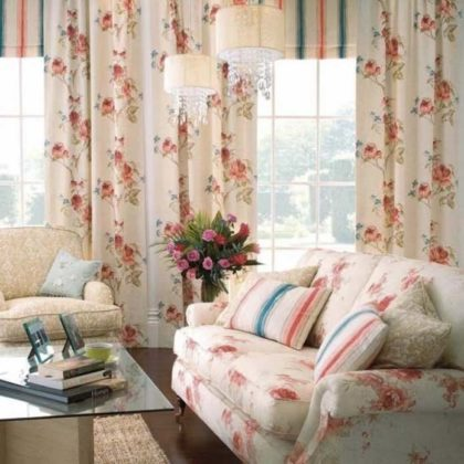 Decoração com cortinas romanticas
