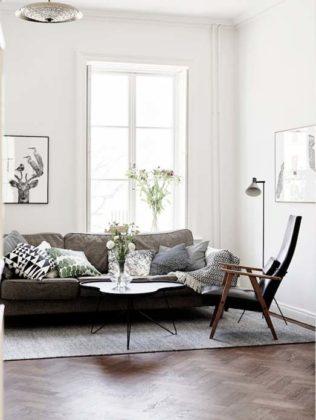 Decoração escandinava para sala