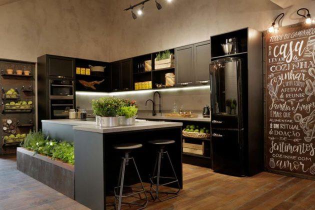 Decoração industrial para cozinha