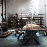 Decoração industrial vintage