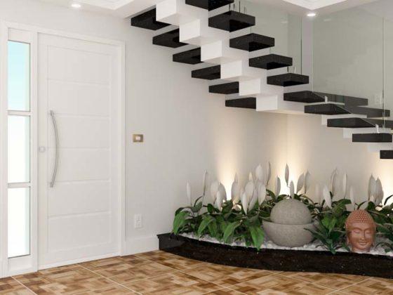 Jardim embaixo da escada