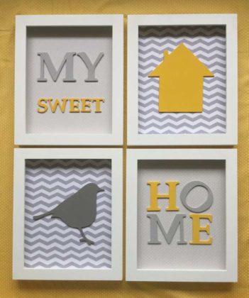 Quadros decorativos para quarto de bebê