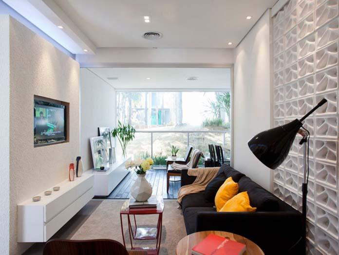 Sala de apartamento pequeno 32 for Decorar apartamento pequeno fotos