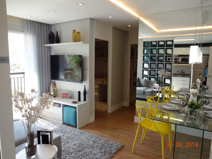 Sala de apartamento pequeno 64 for Pequeno apartamento