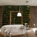 Sala de banho com jardim