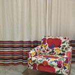 decoração com cortinas coloridas