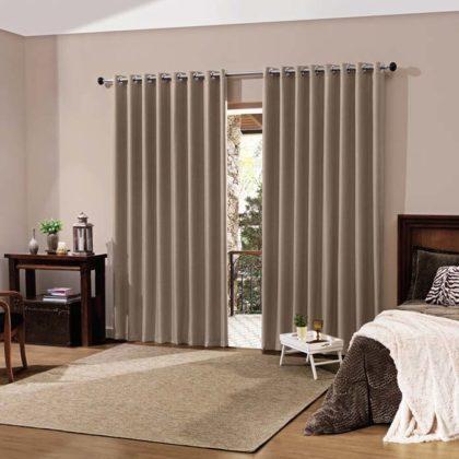 decoração com cortinas xadrez