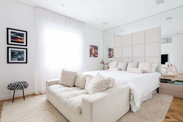 Decoração clean para quarto de casal