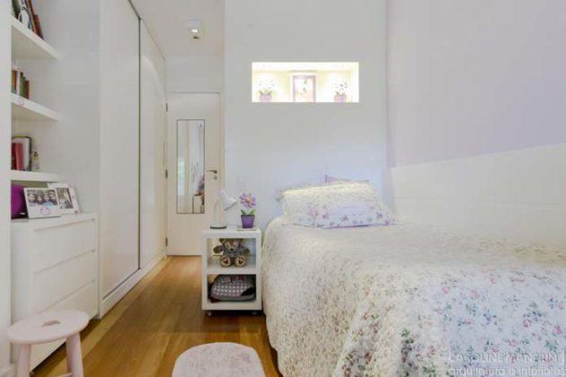 Decoração clean para quarto de solteiro