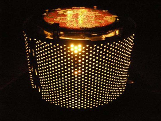 Tambor como luminária
