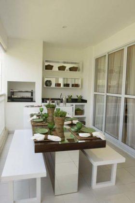 Varanda gourmet para apartamentos