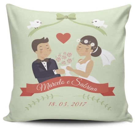 Almofadas personalizadas para casamento