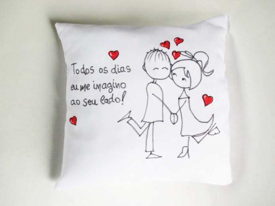 Almofadas personalizadas para namorado